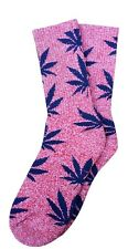 Plantlife 420/Weed/Pot/Marijuana Leaves in Heather Red/Blue!Thick and Comply!