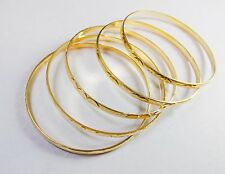 "New 14k Karat Gold Filled 5 Diamond Cut 2.5"" Bangles Bracelet Exclusive Offer!!"