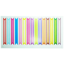 15 Colored Flag Label Stickers For Straws Cupcake Envelope Packaging Decor