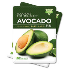 Korean Essence Eco Mask Sheet AVOCADO Moisture Skin Care Facial Pack 7 PCS