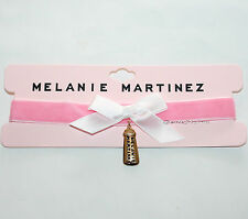 Melanie Martinez Baby Bottle Charm Pendant Pink Velvet Choker Necklace NEW