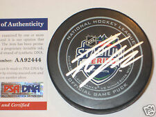 THOMAS VANEK Signed 2016 STADIUM SERIES Official GAME Puck w/ PSA COA
