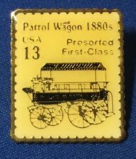 USPS 1988 Patrol Wagon 13 Cent US Postage Stamp Lapel Pin