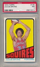 JULIUS ERVING 1972/73 TOPPS #195 RC ROOKIE CARD SQUIRES PSA 7 NM