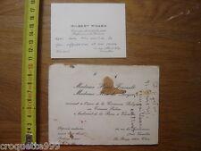 2 cartes de visite GILBERT PICARD et Mmes HENRI FOUCAULT et MAX de ROYER