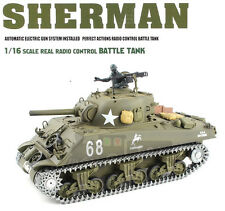 1/16 2.4G RC Henglong Smoke & Sound USA M4A3 ShermanTank Premier Vesion