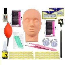 Professional Eyelash Extension Kit Mannequin Training Make Up False Eyelash Glue
