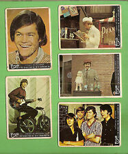 #D9.  FIVE  1967 THE  MONKEES CARDS #9, 36, 11, 31 & 43, MOST DAMAGED