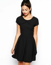 Wal G Black Skater Dress With Pleated Skirt WalG BNWT Size Medium 12 UK FREEPOST