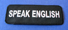 BRAND NEW SPEAK ENGLISH BIKER IRON ON PATCH