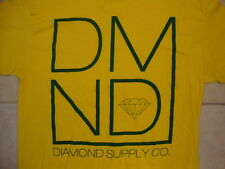 Diamond Supply Company Co. Logo Typography Green and Yellow T Shirt L