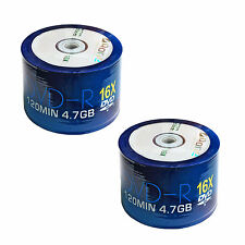100 AONE DVD-R Branded 4.7GB(16x) 120MIN ( Shrink Wrap) DVDR Non Printable