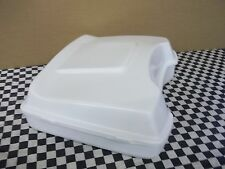 Tour Pack Razor fits Harley Bagger White with spoiler