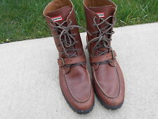 Hunter Brand Men's Tall Leather Working Strap Lace Up Boot Size 13