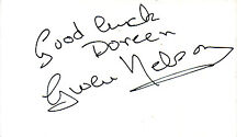 ACTRESS GWEN NELSON HANDSIGNED 5 x 3 WHITE CARD