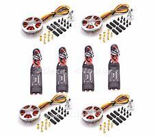 4x 5010 750KV High Torque Brushless Motor + 2-6S 30A OPTO Brushless ESC 4Pcs