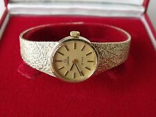 LADIES .375 9CT GOLD CAL.620 OMEGA DE VILLE WRIST WATCH + BOTH BOXES 26.1g