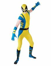 WOLVERINE 2nd SKIN BODYSUIT Deluxe Men's Superhero X-Men Mutant Costume LARGE