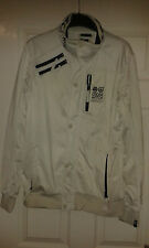 Mens Long Sleeved Jacket - Cross Hatch - Series Fifty Five - White - Size M