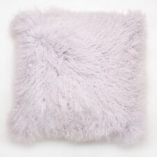 Mongolian Curly Lamb Real Fur Pillow w/Insert - Lilac - 20 x 20 Square