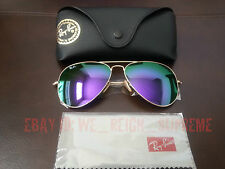 New Ray Ban Aviator Large Metal 3026 Purple Violet flash Mirror 62MM Sunglasses