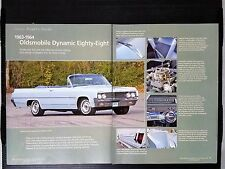 1963-1964 Oldsmobile Dynamic Eighty-Eight 6-Page Article - Free Shipping