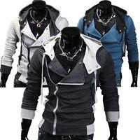 2015 PJ Mens Hooded Casual Coat Slim Fit Hoodies Jacket Outwear Tops 3Color S~XL