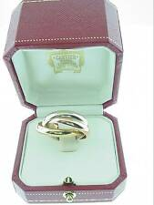 CARTIER  18K   TRINITY   RING  . . .   SIZE  63        4MM  RINGS