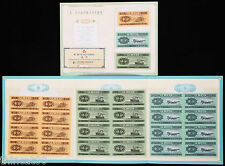 China the Second-Set (Year 1953) Renminbi 8-in-1 Uncut Fen-Bills