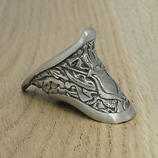Cool Finger Guard for Custom Knife Nickel Silver Unique Handmade Handle Bolster