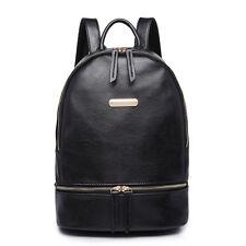 Women Designer Faux Leather Zip Backpack Handbag School Travel Shoulder Bag