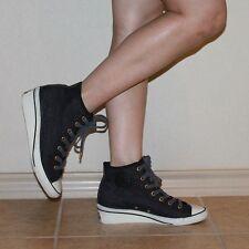 Converse Chuck Wedge Dark Denim Sneaker Shoes Sz 6