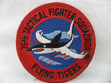 15th Tactical Fighter Squadron Flying Tigers Patch USAF Air Force Shark Velcro