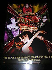 ORIGINAL PROMOTIONAL POSTER - MOULIN ROUGE - DVD/VIDEO RELEASE