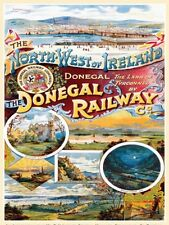 Donegal Railway, Steam Train, NW Ireland, Classic, Small Metal/Tin Sign, Picture
