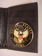 USA US ARMY BLACK LEATHER BIFOLD CREDIT CARD WALLET ID 771 NEW