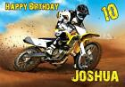 PERSONALISED MOTOCROSS MOTORBIKE RACING BIRTHDAY CARD