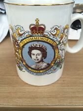 1977 Queens Silver Jubilee Commemorative Mug Cheddleton Jubilee Celebrations