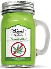 CANNABIS KILLER 12oz Beamer Candle Co Glass Premium Soy Candle 90 Hour Burn Time