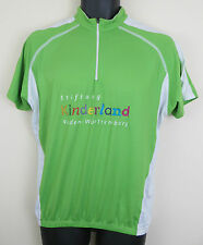 Cycling Retro Vtg Jersey Top Shirt Green Lion Trikot Maillot Maglia Large L
