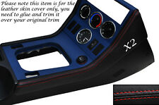 RED STITCH 2X CENTER CONSOLE SIDE TRIM LEATHER SKIN COVERS FITS BMW Z3 95-03