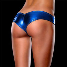 Hot Sexy Thong G-string Panties Brief Bikini Leather Lingerie Underwear c1stg