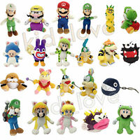New Super Mario Bros. Wii 3D World Land Plush Soft Toy Stuffed Animal Doll Teddy