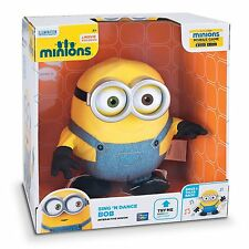 MINIONS SING N DANCE BOB PLUSH TALKING SINGING DANCING INTERACTIVE SOFT TOY NEW