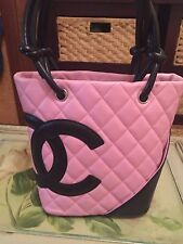 AUTHENTIC CHANEL CAMBON SMALL BAG PINK PRISTINE CONDITION RARE