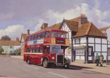 Colchester Essex Blackwells Leyland PD2 Bus Transport 1950s Birthday Card