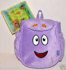 DORA THE EXPLORER MR FACE PURPLE PLUSH BACKPACK BAG MAP