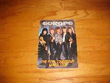 EUROPE 1987 The Final Countdown World Concert Tour Souvenir Program Book