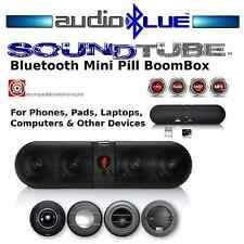 Bluetooth Mini Tube BoomBox FM Radio MP3 USB SD reader Connect phone & devices