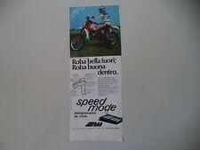 advertising Pubblicità 1979 SPEED MODE e MOTO APRILIA RC 125